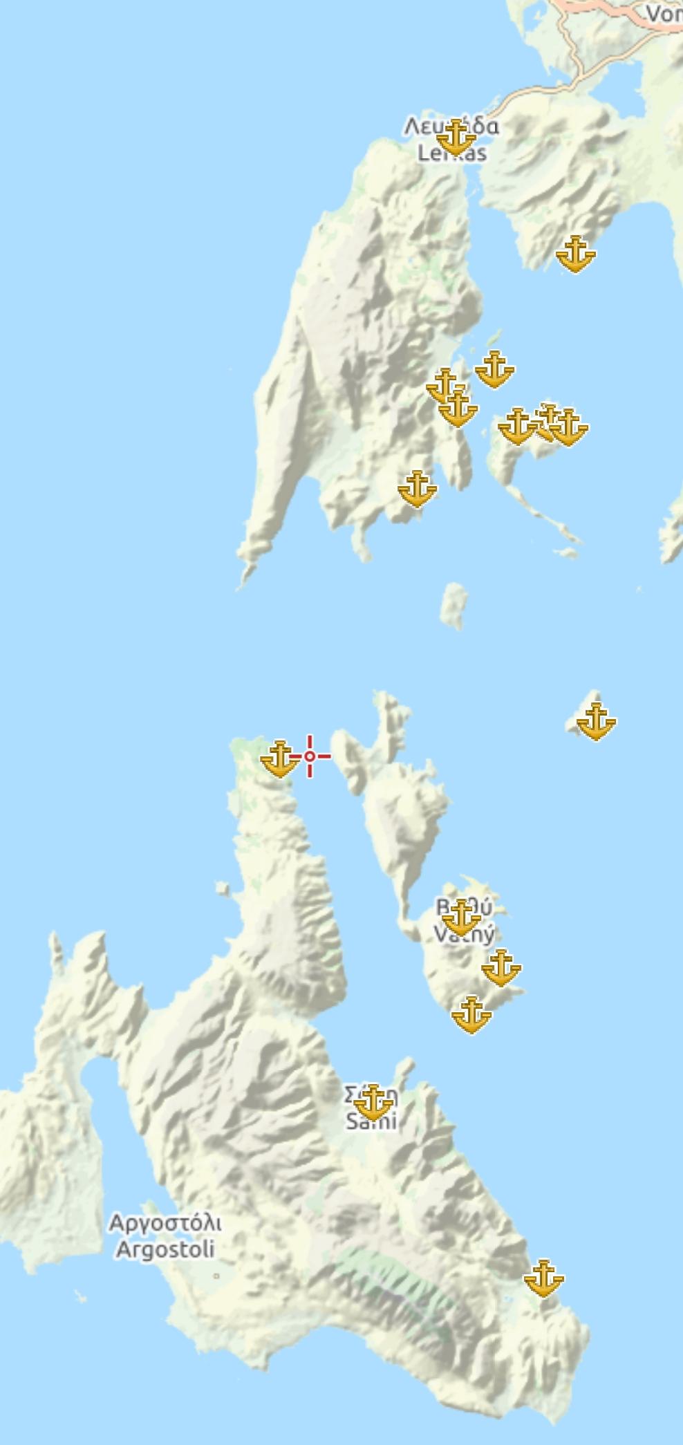 Porti e baie delle isole ioniche meridionali