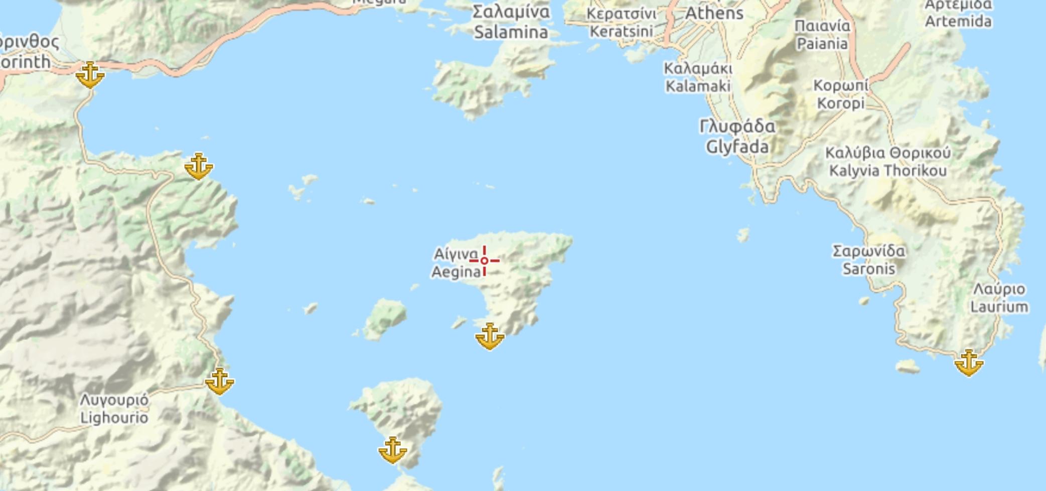 Porti e baie del Saronico