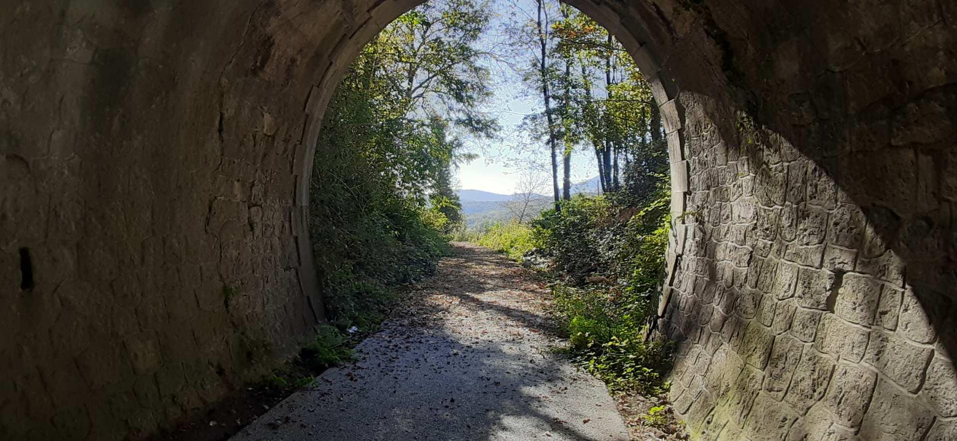 galleria elicoidale ciclabile ex ferrovia Lagonegro-Spezzano Albanese