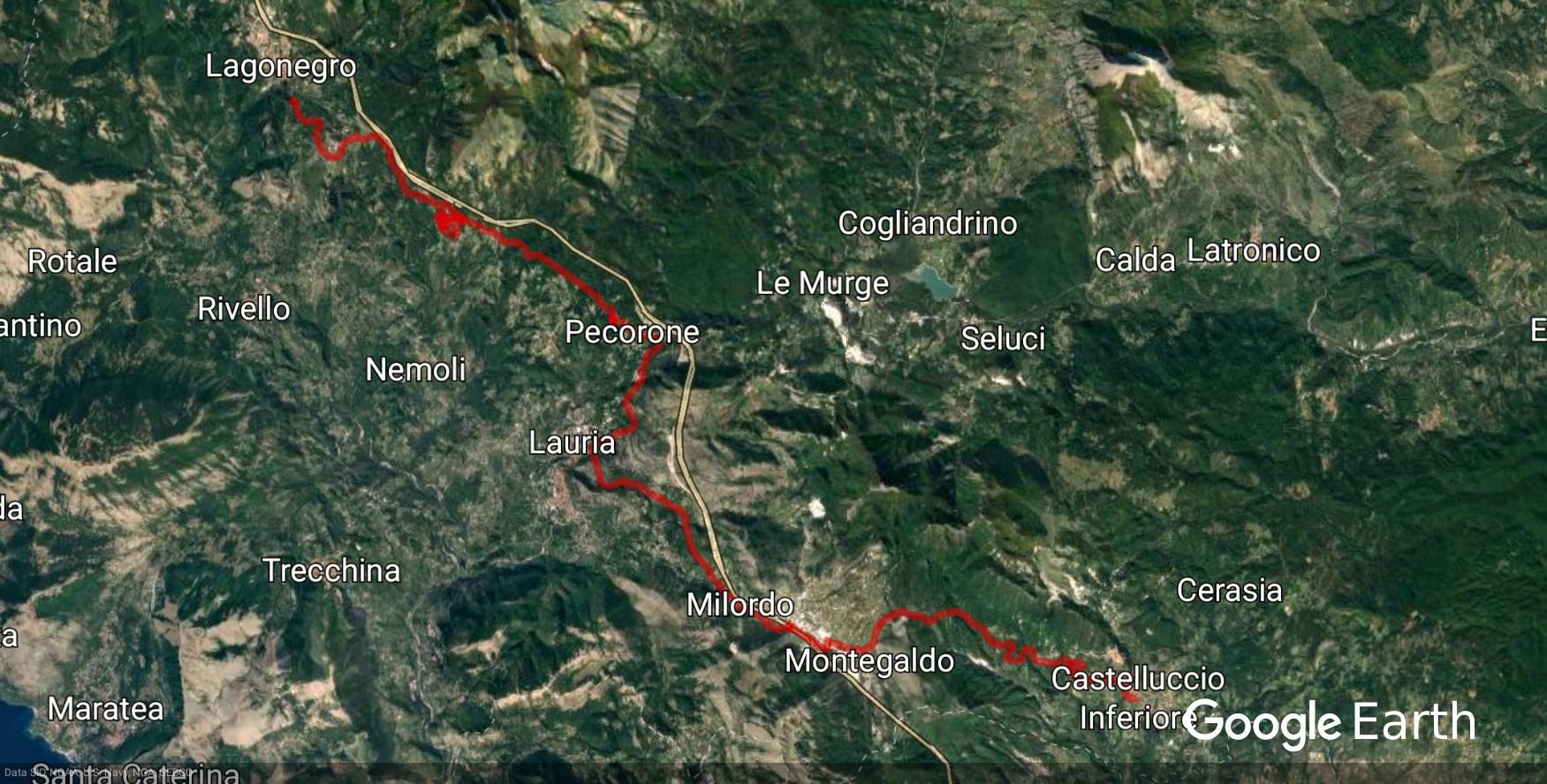 Maratea, Lagonegro-Spezzano, costa Ionica